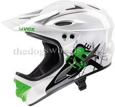 Uvex Full Face DH Downhill MTB Bike Bicycle Helmet 61-62cms XL White Green