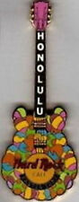 Hard Rock Cafe HONOLULU 2003 EASTER EGGS Guitar PIN - HRC Catalog #19116 New!