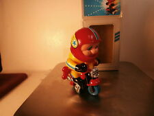 VINTAGE K&N MINI MOTORBIKE WIND UP PLASTIC TOY W/ORIGINAL BOX MADE IN HONG KONG