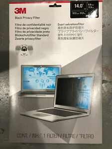 """New 3M Privacy Filter for 14.0"""" Widescreen Laptop with COMPLY Attachment System"""
