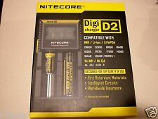 Newest VERSION NITECORE D2 Digicharger Universal charger 18650 18500 18350