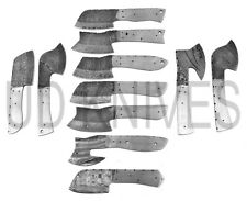 LOT OF 10 | UD KNIVES HANDMADE 1095 FIXED BLADE DAMASCUS ART BLANK BLADE 8573