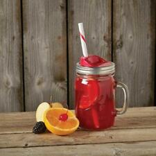 all Mason Jar Sip & Straw Lids Set – BPA-Free & Dishwasher Safe (Red)