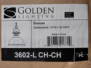 Golden Lighting Wyman Collection 1-Light Chrome Pendant