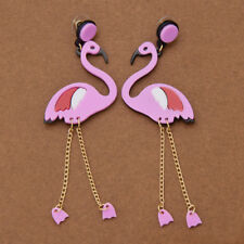 Flamingo Acrylic Pendant Punk Earring Ear Stud Women Fashion Jewelry Gift 1 Pair