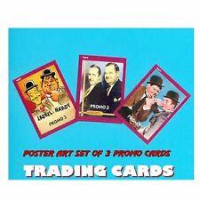 3 BONUS CARDS / Laurel & and Hardy Poster Artwork set