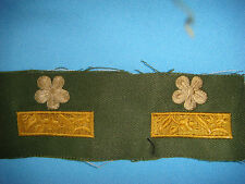"WAR PAIR OF SOUTH VIETNAMESE ARMY MAJOR RANK "" THIEU TA "" COLLAR PATCHES"