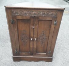 Bevan Funnell Reprodux Oak Freestanding Corner Cupboard (2 available)