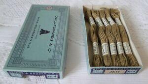 DMC DOLLFUS MIEG 5 échevettes coton retors à broder art.89 N° 4 réf 2611 boite