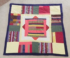 "Hand Made by Bonnie Lee Quilt Patchwork Multi-color Size 51""X50"" Cotton Throw"