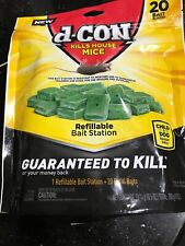D-con Kill House Mice 20 Bait Blocks