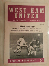 1964 League Cup Semi Final - WEST HAM v LEICESTER CITY - 2nd Leg - 23rd March