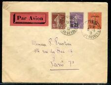 """Oblitération """" Niort Exposition """" sur enveloppe pour Paris en 1930 - réf F 102"""