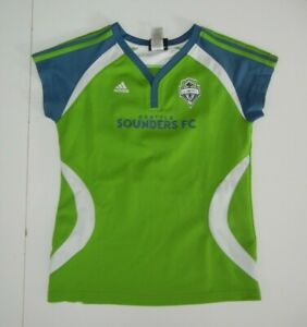 Adidas SEATTLE SOUNDERS FC Green #10 LJUNGBERG SOCCER JERSEY Girl Kid Sz YOUTH L