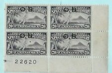 Philippines 20c Special Delivery Plate corner Block of 4, Ovpt. OB