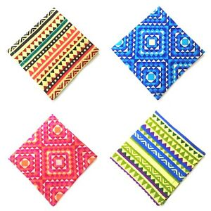 ABSTRACT 100% Cotton Pocket Square Handkerchief Hanky Wedding Party Men Women