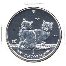 elf Iom Isle of Man 1 Crown 2003 Balinese Cat Kittens