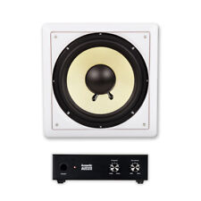 """Acoustic Audio HD-S10 In Wall 10"""" Home Passive Subwoofer Speaker and Amplifier"""