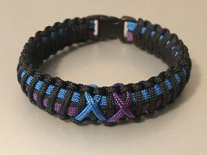 Sexual Assault & Domestic Violence Awareness *  Paracord Bracelet