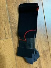 NEW R-Gear Black Red Sport Over Calf Micofiber Compression Sock 9-11 - 3 Pairs!