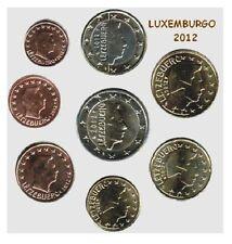 Serie 8 monnaies euros Luxembourg 2012 S//C - (8 pièces de monnaie) UNC