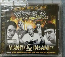The Funky Fresh Sex Crew - Vanity & Insanity Rap CD Andre Nickatina San Quinn