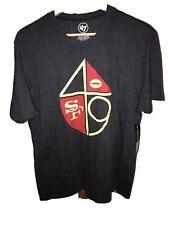 NWT San Francisco 49ers 47 Brand Black Scrum Logo SS T-shirt SF Large Medium New