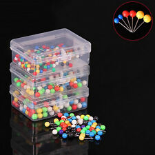 100x Dress Wedding Craft Pearl Round Head Straight Sewing Needle Pins Corsage S&