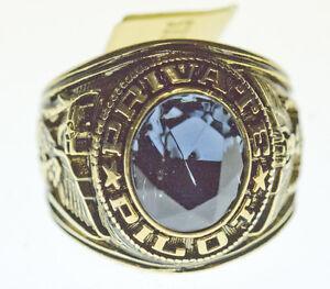 Private Pilot Ring   - Blue Stone