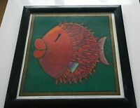 Framed picture The Puff Wuff Fish by Joanna Apperly Kingfisher Fine Art
