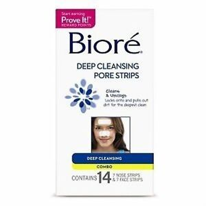 Biore Deep Cleansing Pore Strips, Combo, 14 Ct (Pack of 12)