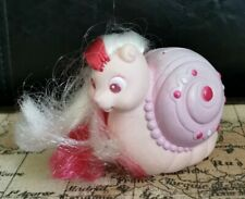 Vintage Tonka Keypers Baby Pearl Snail Coin Purse Pink & White Hair Glitter Eyes