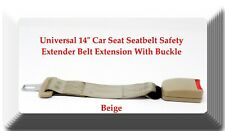 "Beige Universal 14"" Car Seat Seatbelt Safety Extender Belt Extension With Buckle"