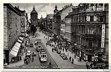 30er Jahre, Foto-AK,  Mannheim, Blick von den Neuen Planken nach dem Wasserturm