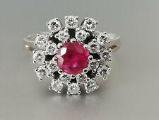 Wunderschöner Vintage Ring  Brillanten+ Rubin 750 Gold Wert 4800 Euro✨
