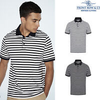 Front Row Striped Jersey Polo Shirt (FR230) - Casual Wear Cotton T-Shirt