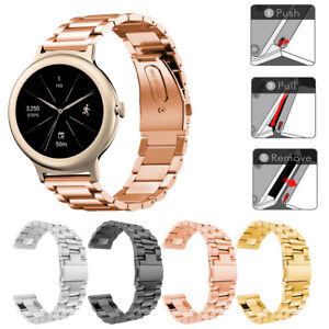 Stainless Steel Metal Band fold clasp  Strap Bracelet For LG Watch Style LG-W270