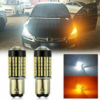 60-SMD Switchback LED Front Turn Signal Light Bulbs for Honda Accord Sedan 98-15