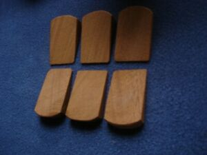 6 mini wooden wedges for wobbly furniture, machinery and craft and boot stalls