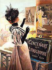 Centenaire de la Lithographie France French Vintage Travel Poster Advertisement