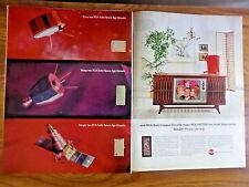 1965 RCA TV Television Ad Nasa Space Programs Bob Hope Maxwell St John Fleming
