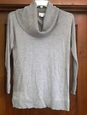 Caslon NEW Gray Womens Size small Petite cowl neck wool blend Sweater $78