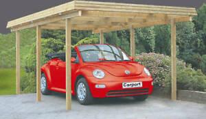 Carport Richie 3x5 m Einzelcarport Holzcarport Holz Garage Holzgarage Flachdach