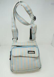 Kavu Crossbody Purse Bag Striped Blue & Beige