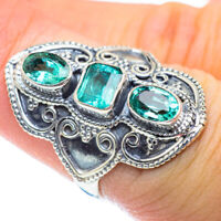Zambian Emerald 925 Sterling Silver Ring Size 6.5 Ana Co Jewelry R54262