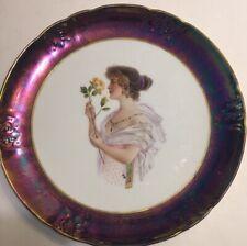 Vintage Portrait Plate Semi-Vitreous Porcelain Knowles-Taylor Triennial European
