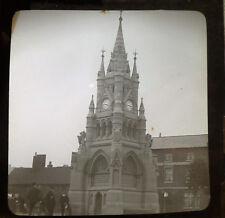 Edwardian glass photographic plate Stratford-upon-Avon Clocktower ca 1909