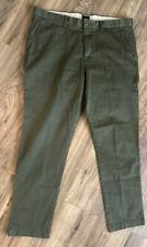 J. CREW Mens Chinos Slacks Pants Size 36 X 32 Stretch Army Green