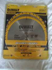 NEW DEWALT DW3128P5 80 Tooth 32T ATB Thin Kerf 12-inch Miter Saw Blade