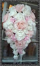 Flores Boda Marfil & Rosa Bebé Rosas Con Diamante